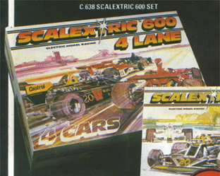 Scalextric 600 Set - 4 Lane