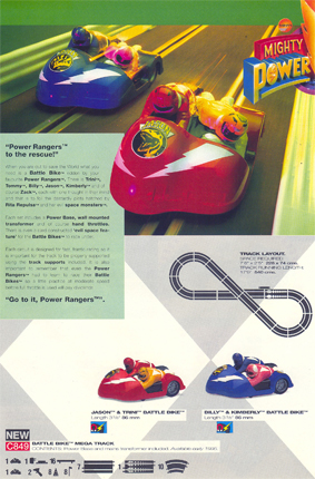Power Rangers Battle Bike Mega Track Set